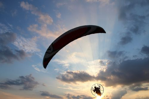motor glider paraglider air sports