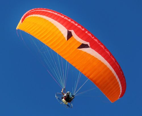 motor gliders paraglider fly