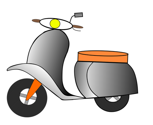 motor scooter  roller  two wheeled vehicle