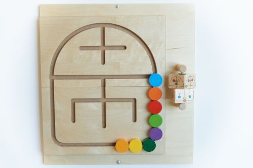 motor skills toy wood children