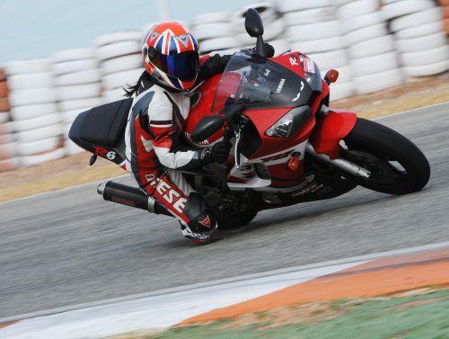 motorbike knee down