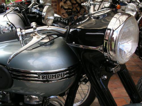 motorbike triumph vintage