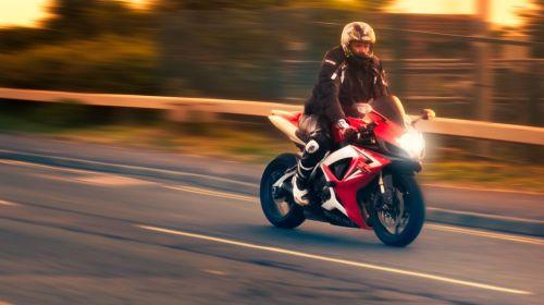 motorbike sunset speed