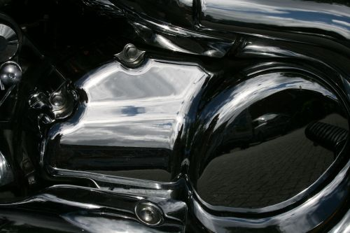 motorbike engine chrome