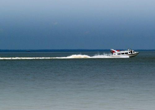 motorboat fast sea