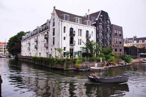 Motorboat In Amsterdam