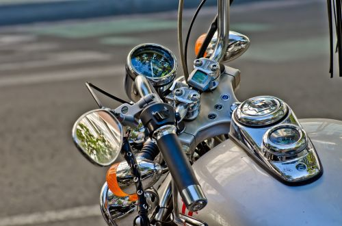 motorcycle rear-view mirror handlebar