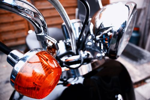 motorcycle blinker spotlight
