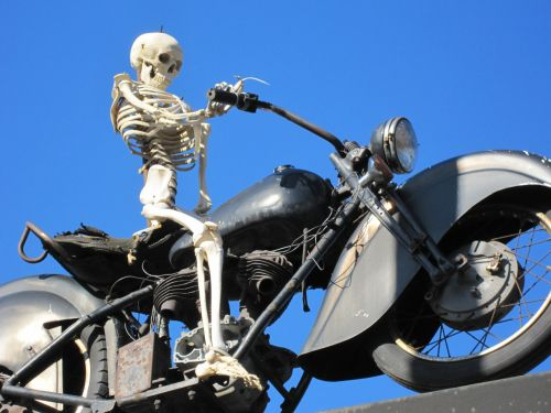 motorcycle skeleton bike