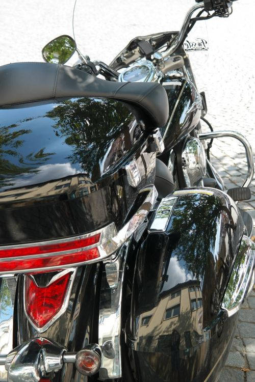 motorcycle vehicle rear view