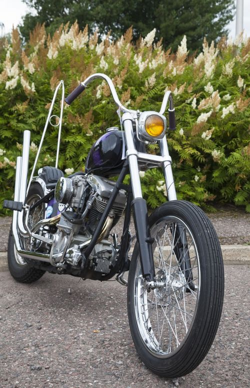 motorcycle constructed in it custom