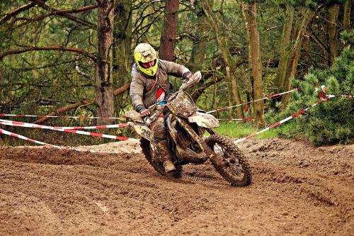 motorcycle enduro terrain machine