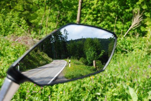 motorcycle mirror mirroring