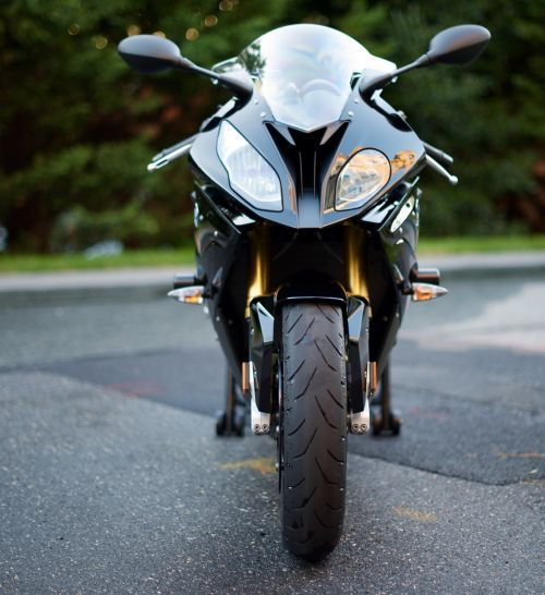 motorcycle asphalt headlights