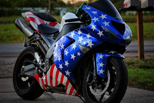 motorcycle  patriotic  merica