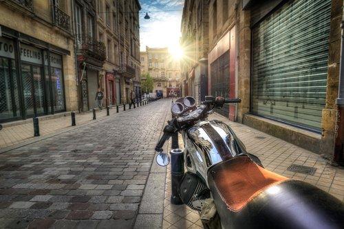 motorcycle  motorbike  street