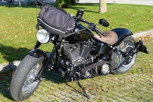 motorcycle harley davidson black