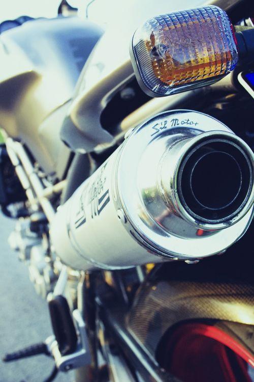 motorcycle exhaust metal