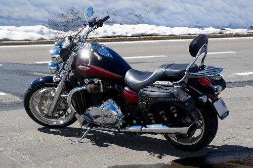 motorcycle snow melt