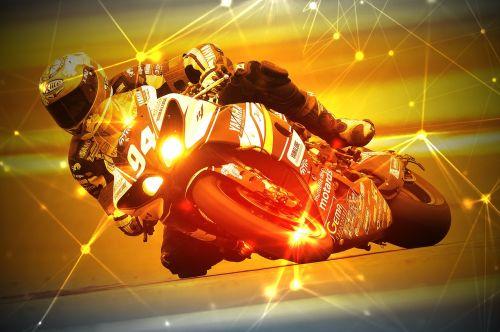 motorcycle racer racing race