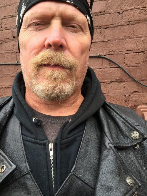motorcycle rider leather coat biker