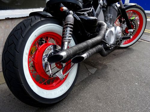 Motorcycle Wheels Engine Exhaust