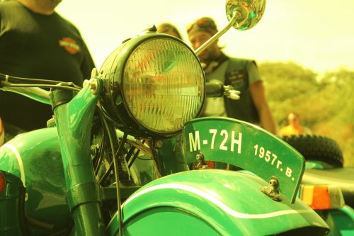motorcycles vintage green