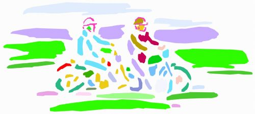 motociklas, Sportas, menas, iliustracija, spalvinga, spalvos, dvylika, turizmas, lėtai, kraštovaizdis, motociklai 19 19-2