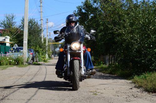 motorcyclist biker honda