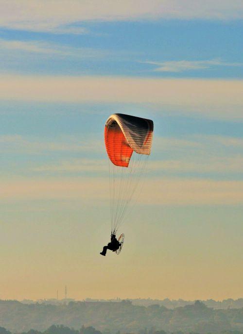motorized parafoil parachute canopy