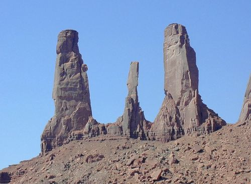 moument valley towers rocky towers