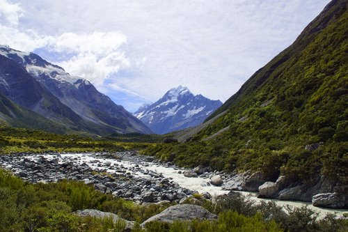 mount cook  new zealand  landscape
