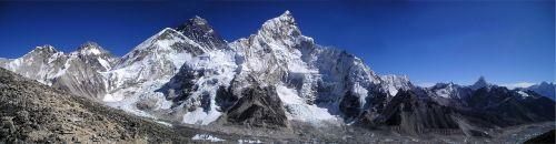 mount everest himalayas nuptse