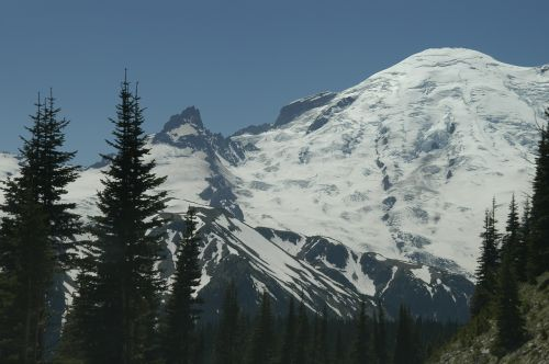 mount rainer mountain peak