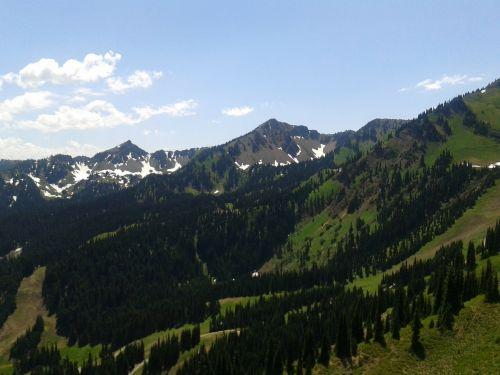 mount rainier peak mountains