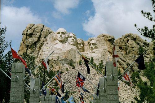 mount rushmore south dakota george washington präsidentenköpfe