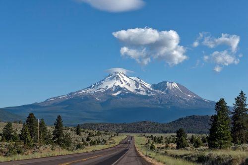 mount shasta california mountains