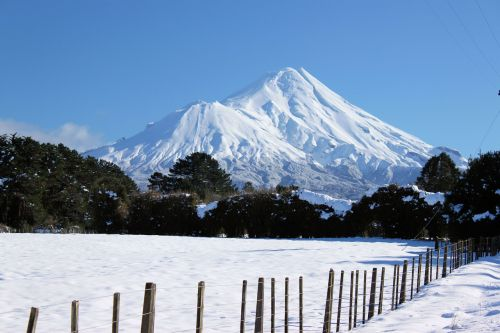 mount taranaki mountain snow mountain