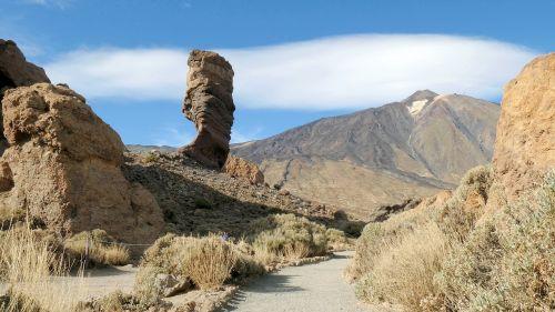 kalno teide,vulkanas,teide,Tenerifė,el teide,gamta,geologija,Teide nacionalinis parkas,Nacionalinis parkas,Kanarų salos,kraštovaizdis,toli,akmuo,dangus,Rokas,kalnas,formavimas