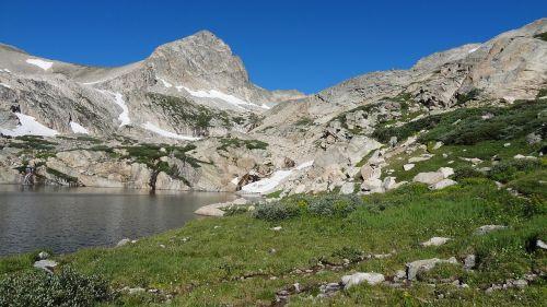 mount toll colorado rockies blue lake