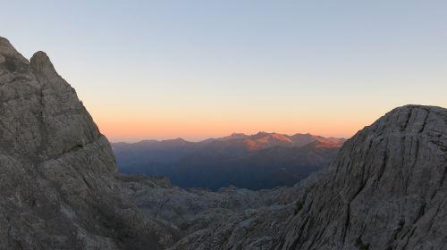 mountain picos de europa sunset