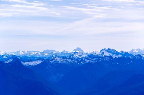 mountain range peaks