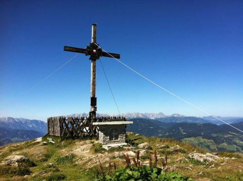 mountain summit cross sunday kogel