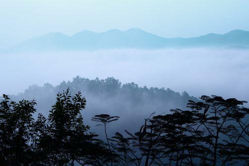 mountain cloudy nature