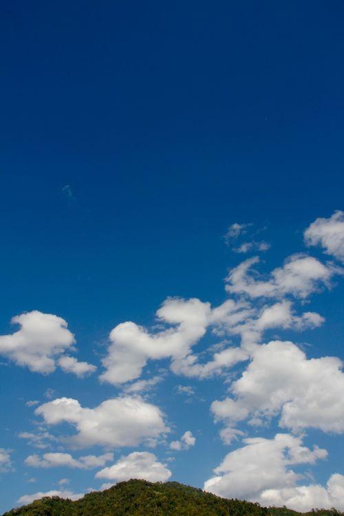 mountain sky clouds