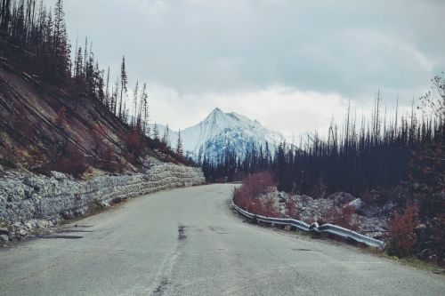 mountain road scenery