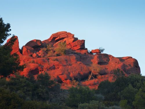 mountain red sandstone red stoneware