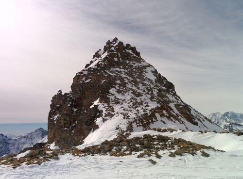 mountain snow mountains