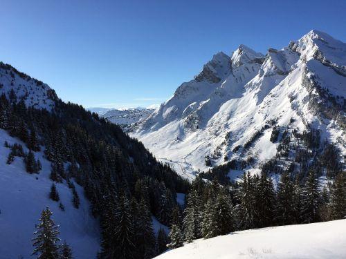 mountain alps snow