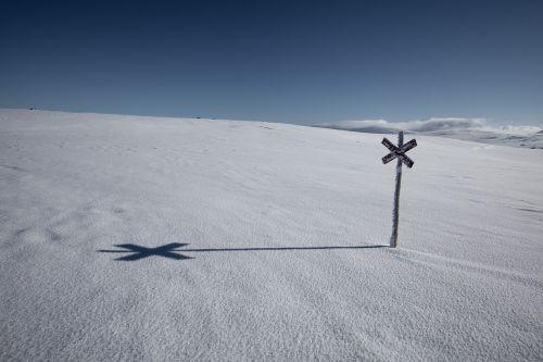 mountain touring snow